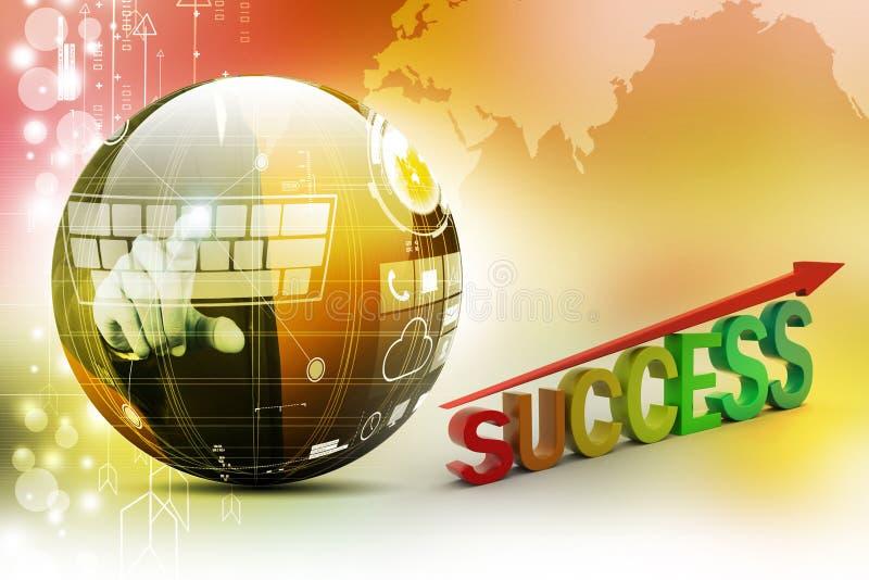 Graphique de réussite d'affaires illustration de vecteur