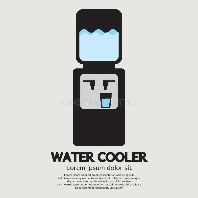 Graphique de refroidisseur d'eau illustration libre de droits