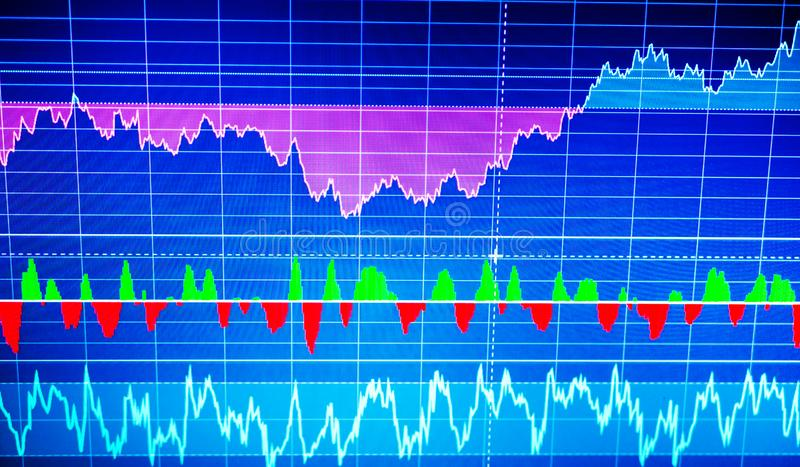 Graphique de sciences économiques du monde Analyse technique Vue conceptuelle d'ex illustration stock