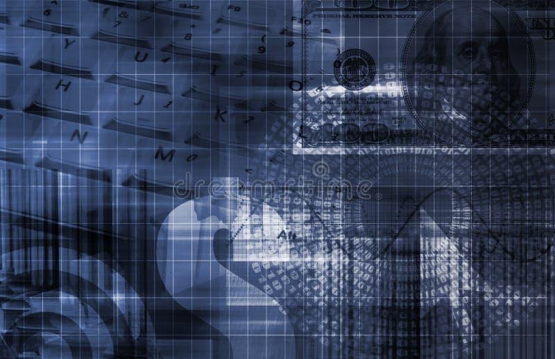 Graphique de technologie de tableur de finances illustration stock