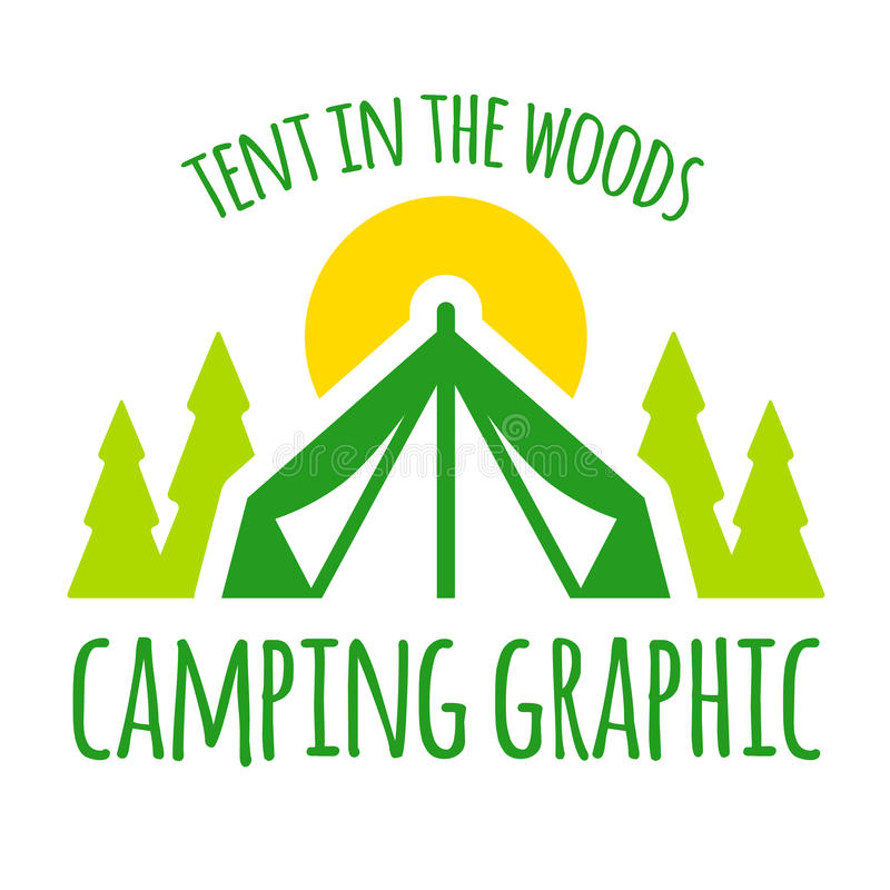 Graphique de tente de camping