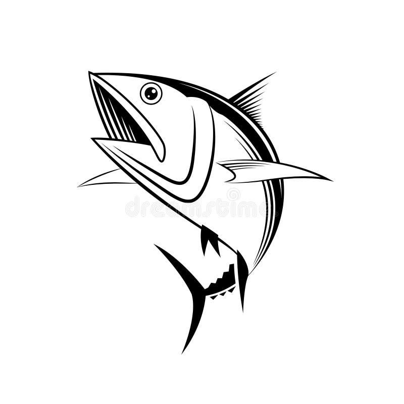 Graphique de thon de vecteur illustration de vecteur