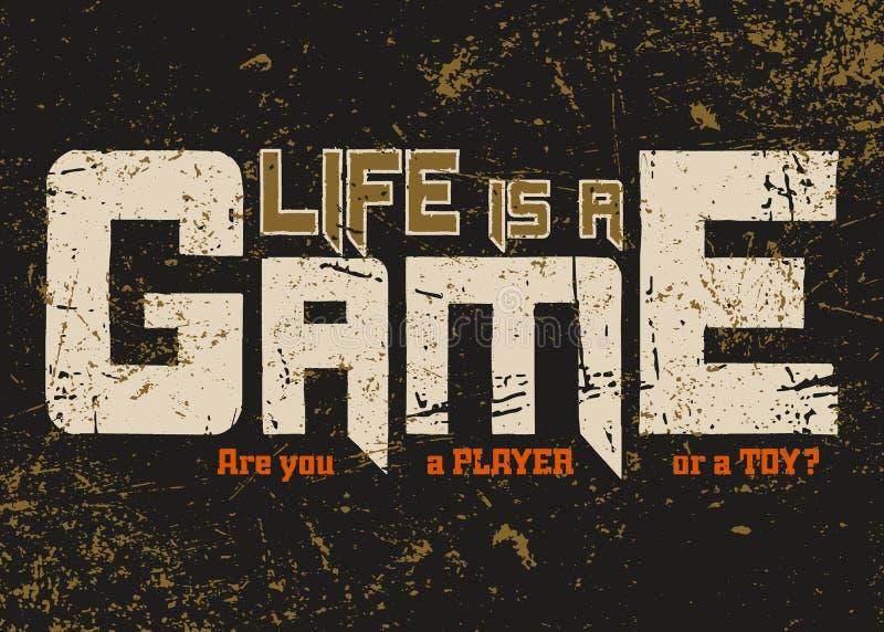 Graphique de typographie de T-shirt avec la citation grunge illustration libre de droits