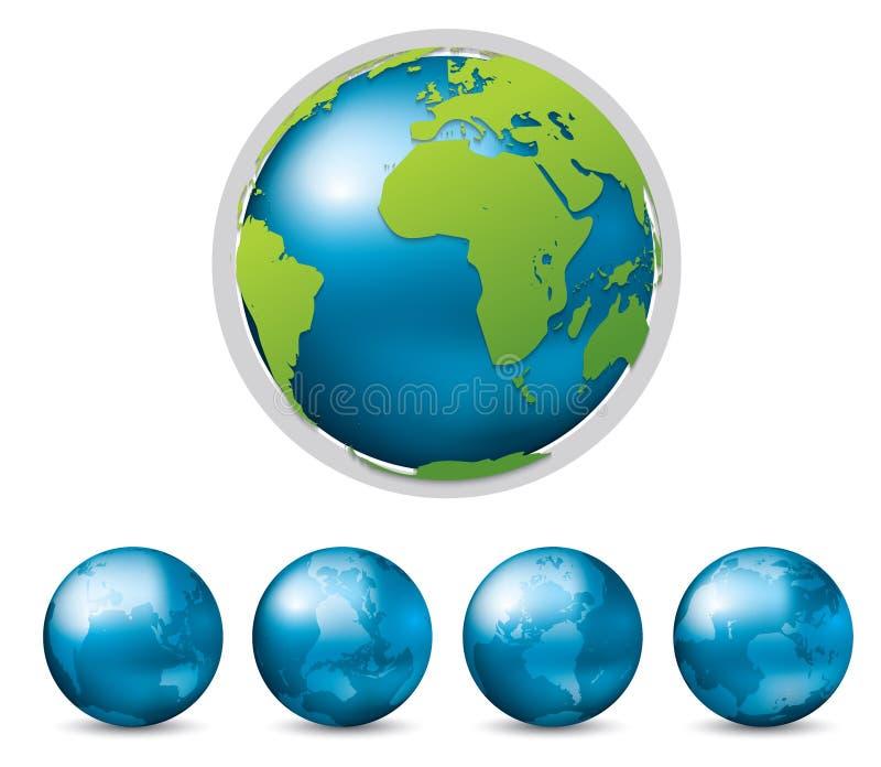 Graphique de vecteur de la terre illustration libre de droits