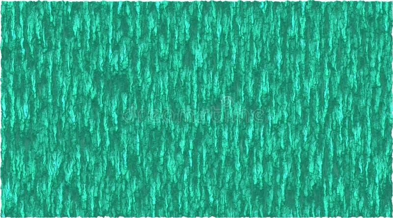 Graphique de vecteur de fond de thème d'écorce dans la couleur verte de mer illustration stock