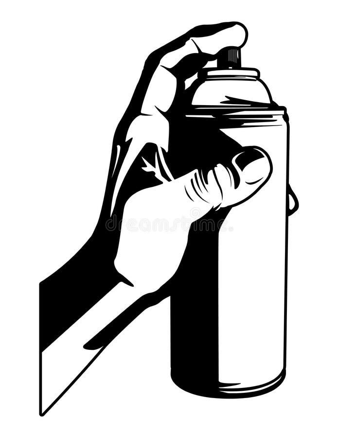 Graphique de vecteur noir et blanc de peinture de jet illustration de vecteur