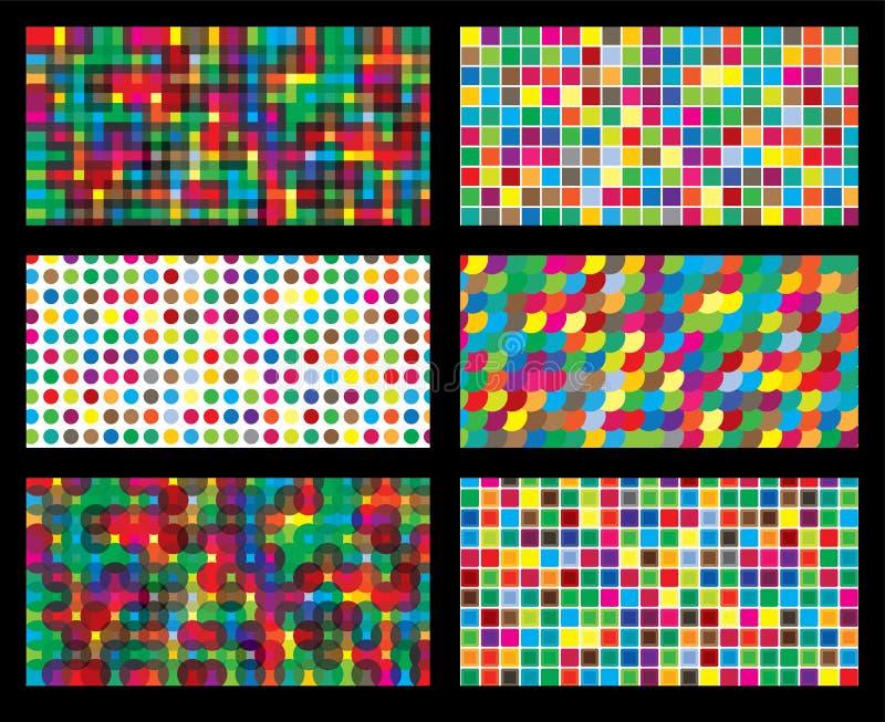 Graphique de vecteur répétitif sans couture géométrique de fond coloré illustration libre de droits