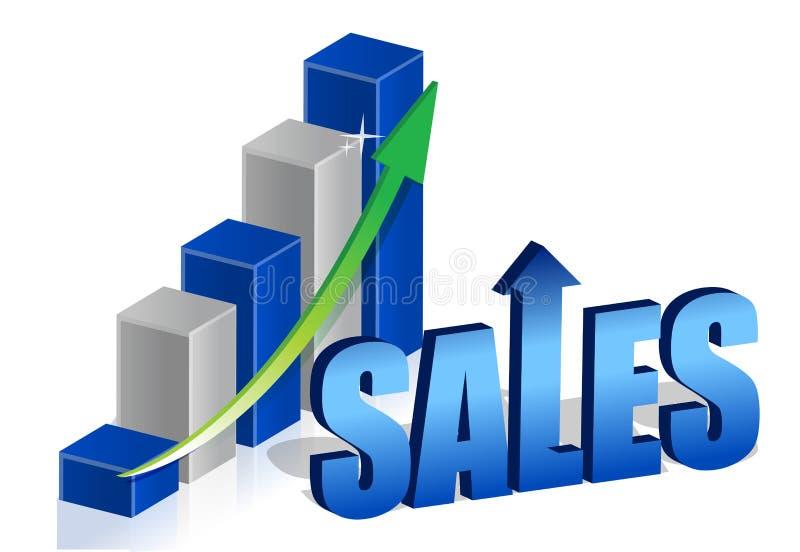 Graphique de ventes illustration de vecteur