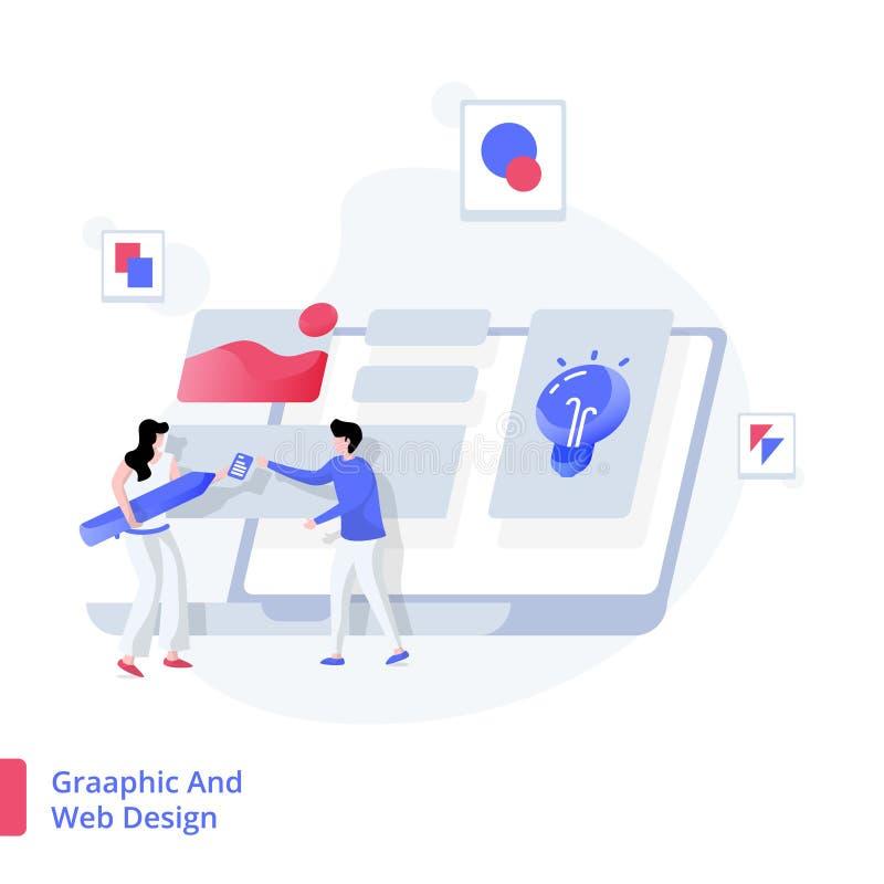 Graphique et conception web d'illustration illustration libre de droits