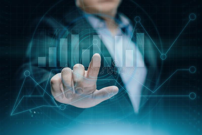 Graphique financier Diagramme de marché boursier Concept de technologie d'Internet d'affaires d'investissement de forex images stock