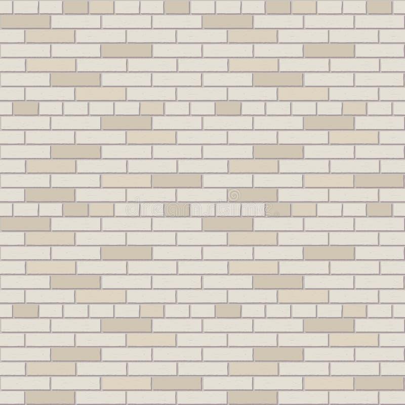 Graphique intérieur de mur de briques de modèle blanc et gris de vecteur illustration libre de droits