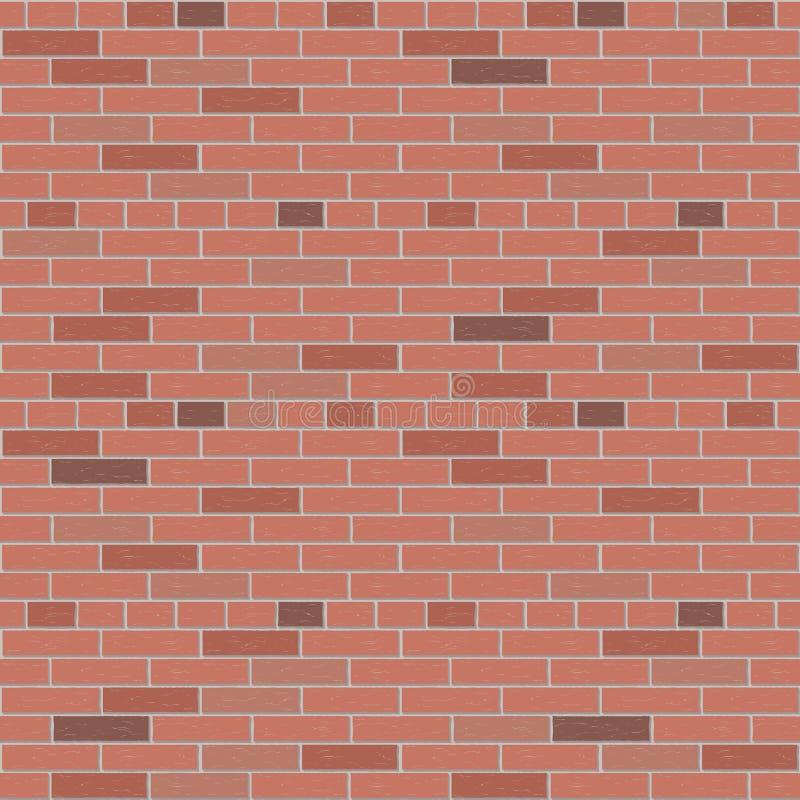Graphique intérieur de mur de briques de modèle rouge de vecteur illustration libre de droits