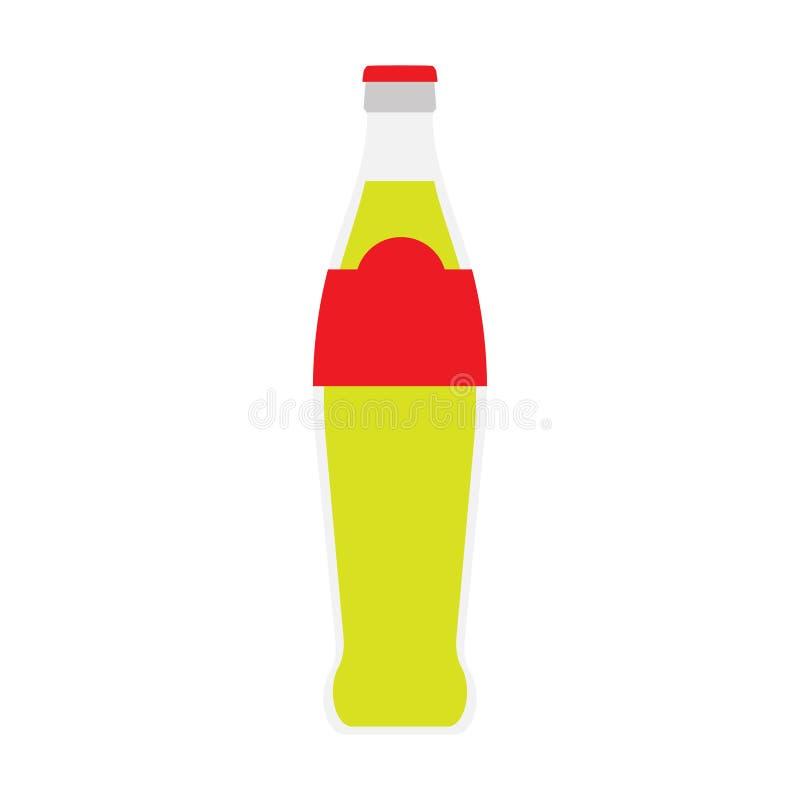 Graphique liquide de cocktail de vecteur en verre de soude de boissons Bouteille transparente fraîche de fraîcheur de récipient d illustration stock