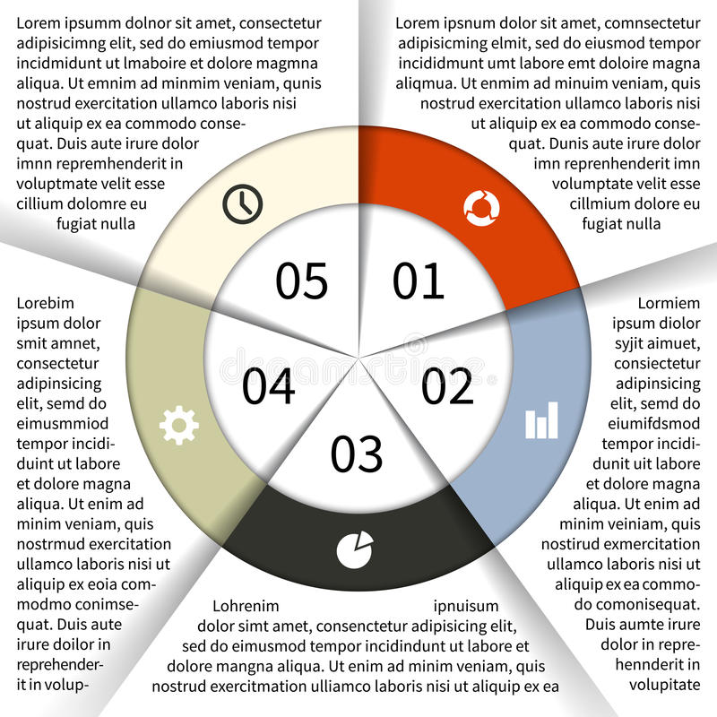 Graphique moderne d'infos de vecteur pour le projet d'affaires illustration stock