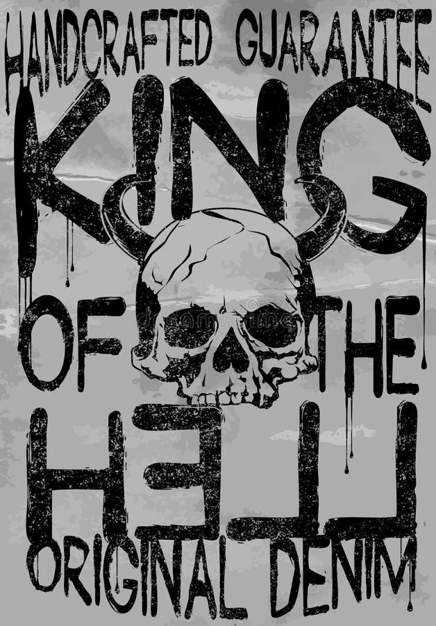 Graphique noir et blanc de slogan abstrait de pièce en t pour la mode illustration de vecteur