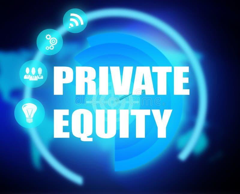 Graphique privé de plan de concept de capitaux propres illustration stock