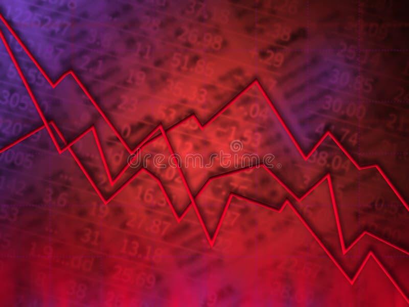 Graphique rouge du marché illustration stock