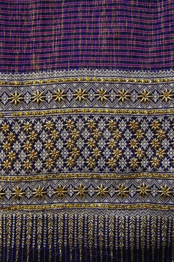 Graphique thaïlandais de modèles thaïlandais de tissus photo stock