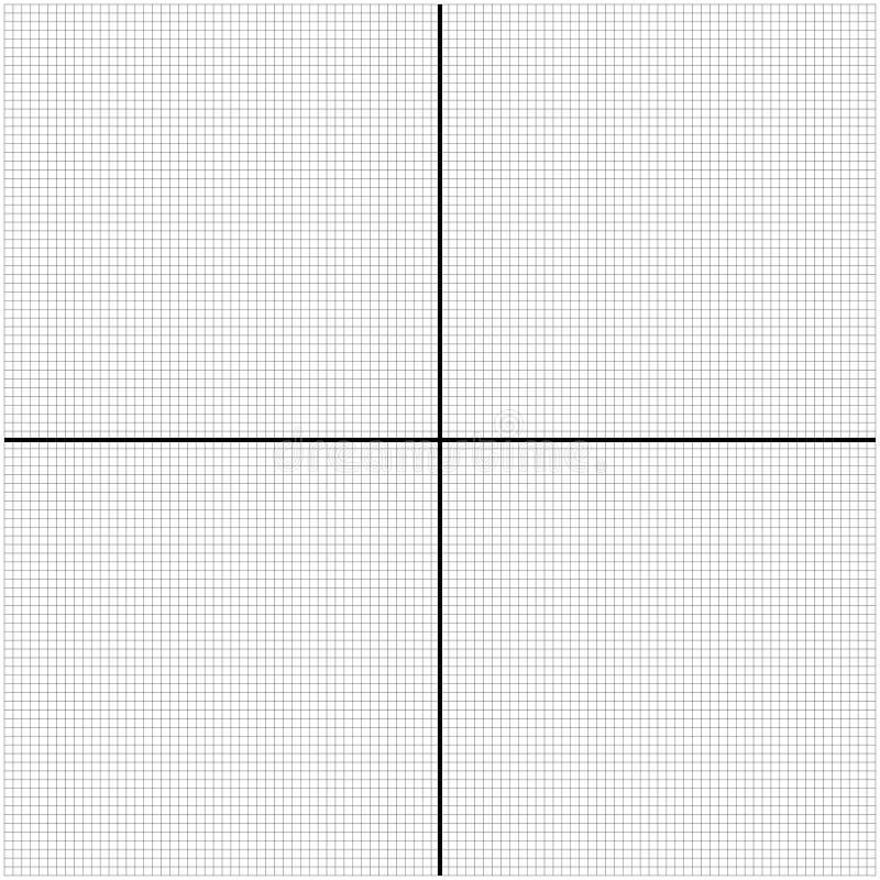 Graphique vide d'axe de deux maths pour vous illustration libre de droits