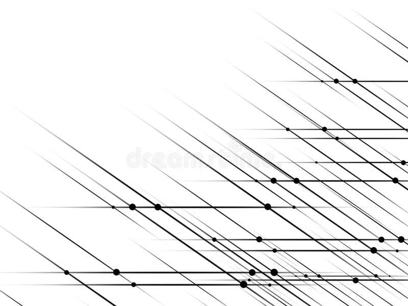 Graphiques abstraits de la composition des points et des lignes illustration stock