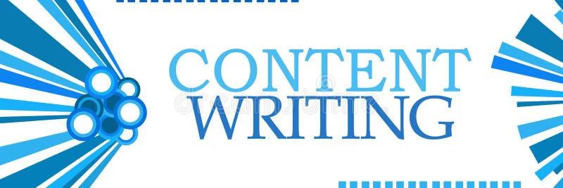 Graphiques bleus d'écriture satisfaite horizontaux illustration stock