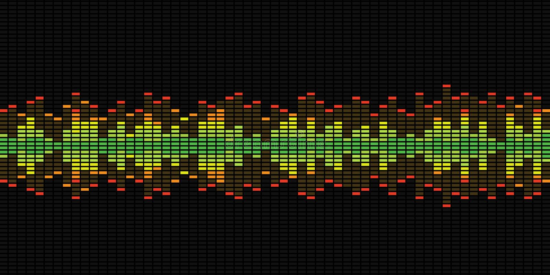 Graphiques d'égaliseur de musique photos stock