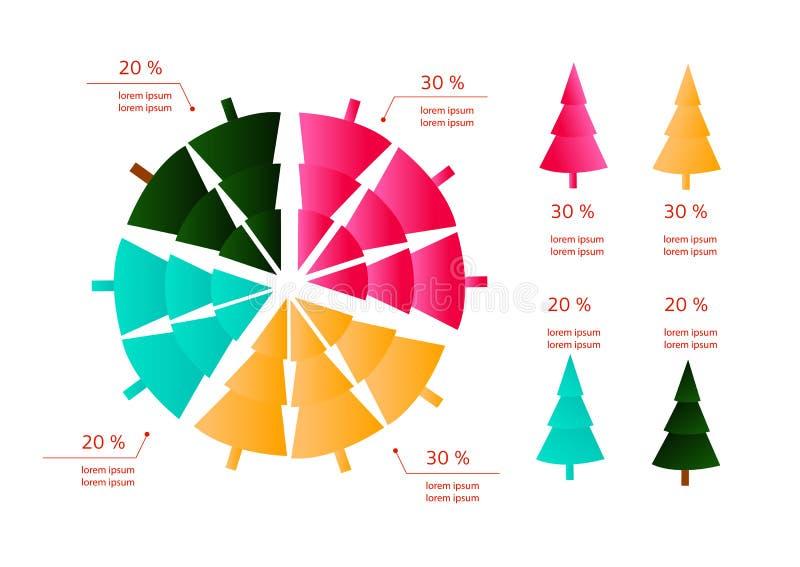 Graphiques d'infos de nouvelle année/Noël illustration libre de droits