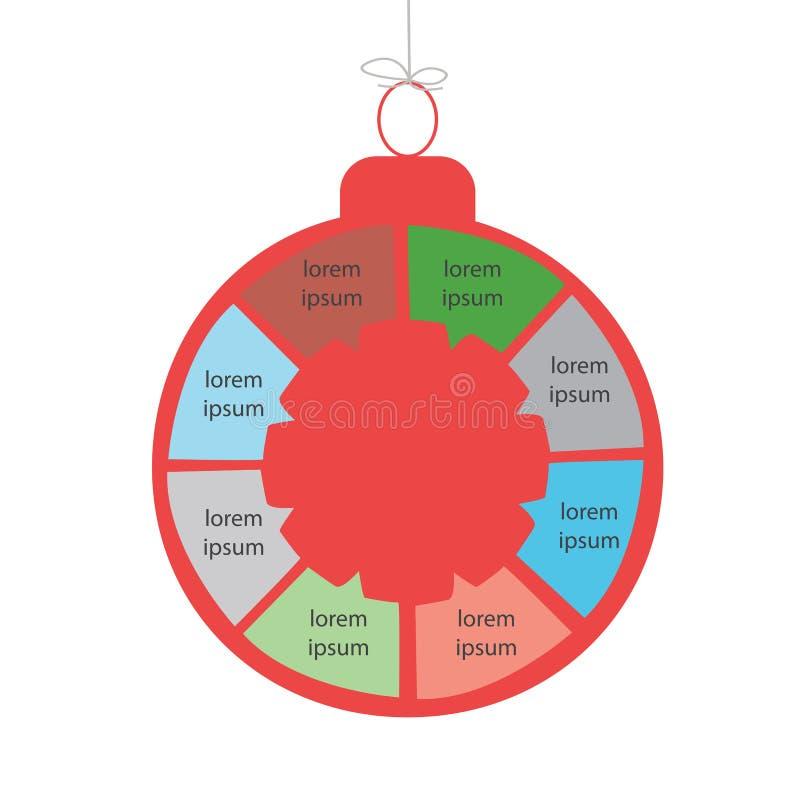 Graphiques d'infos de nouvelle année/Noël illustration de vecteur
