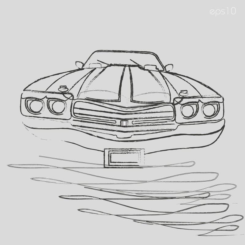 Graphiques de charbon de bois de voiture illustration de vecteur
