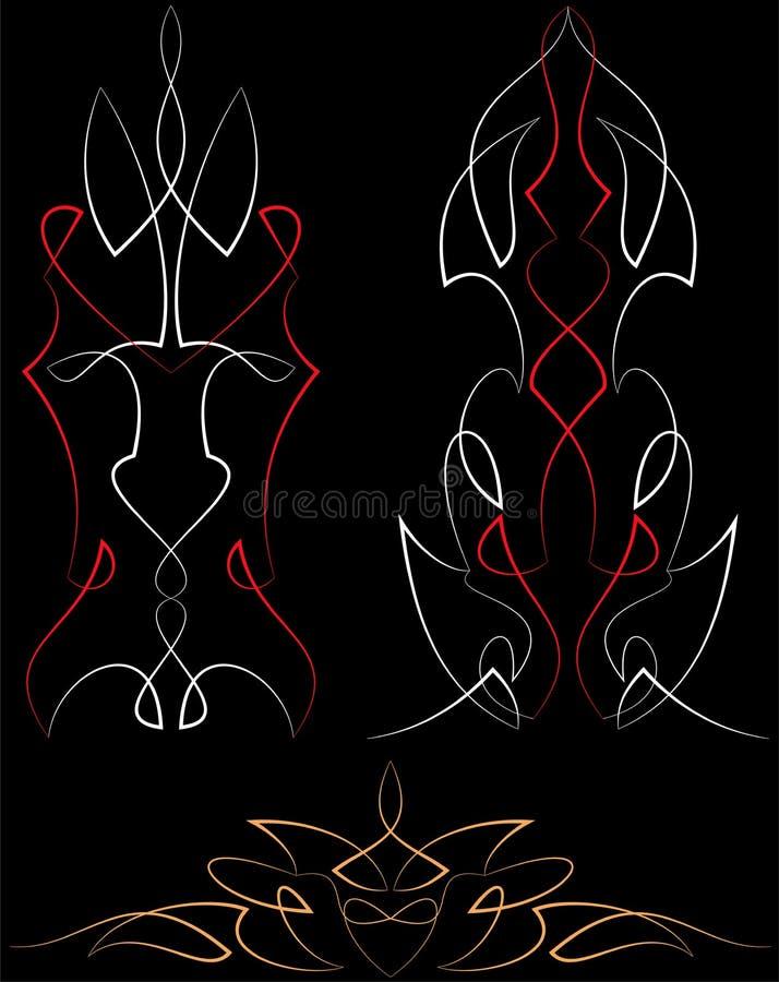 Graphiques de filet : Vinyle prêt illustration stock