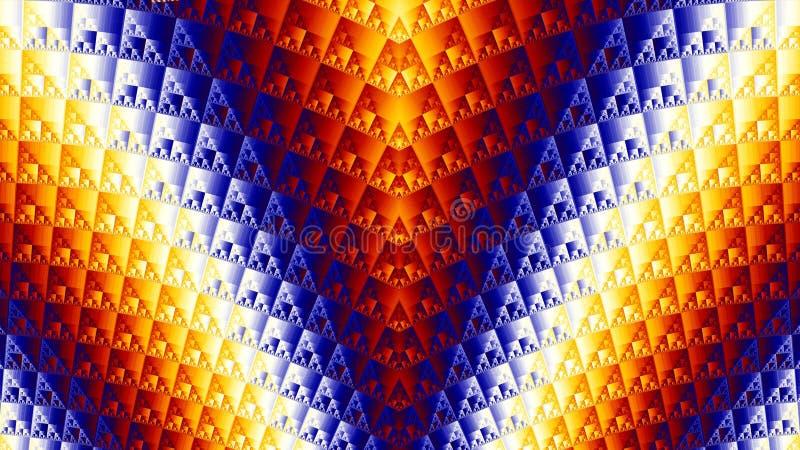 Graphiques de fractale triangles colorées image stock