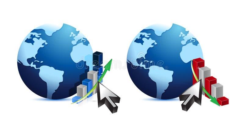 Graphiques de globe et de gestion illustration de vecteur