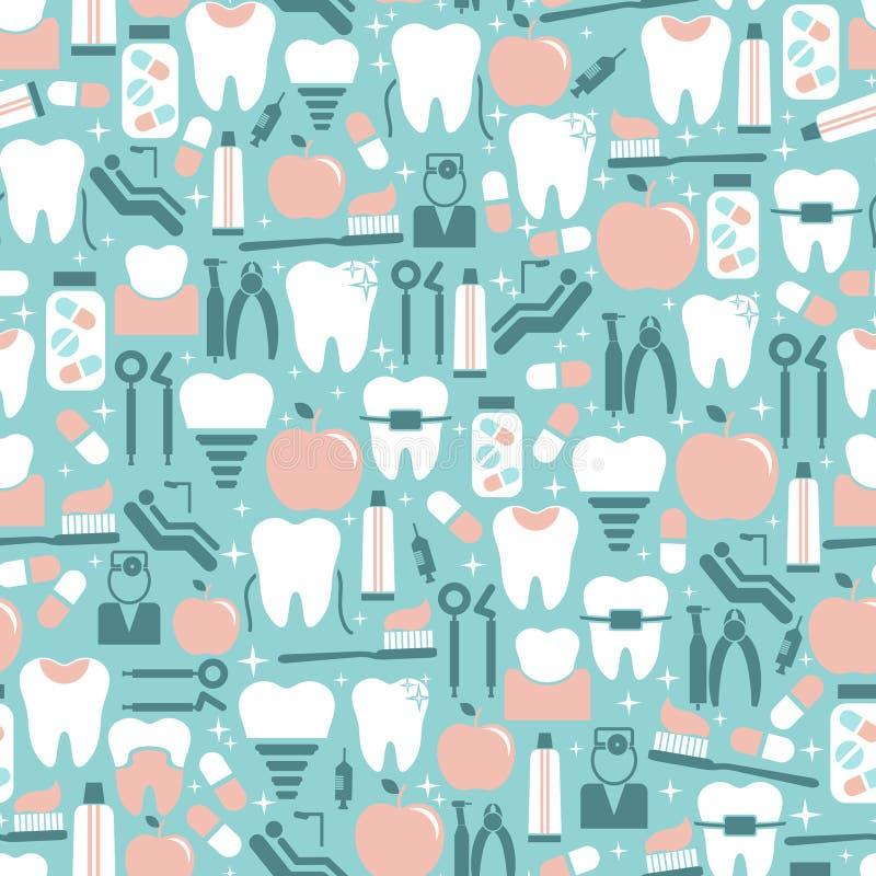 Graphiques de soins dentaires sur le fond bleu illustration stock