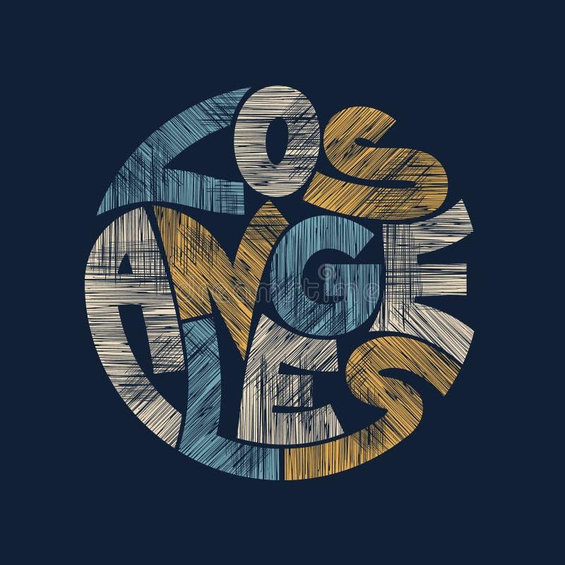 Graphiques de typographie de Los Angeles Conception de mode de T-shirt illustration de vecteur