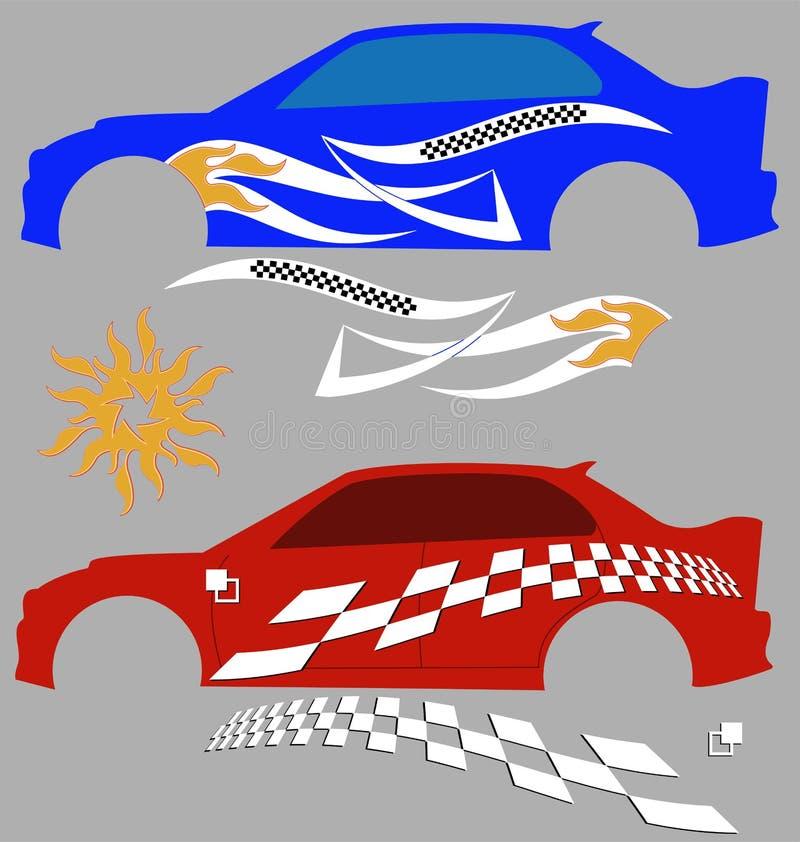 Graphiques de véhicule, rayure : Vinyle prêt illustration libre de droits