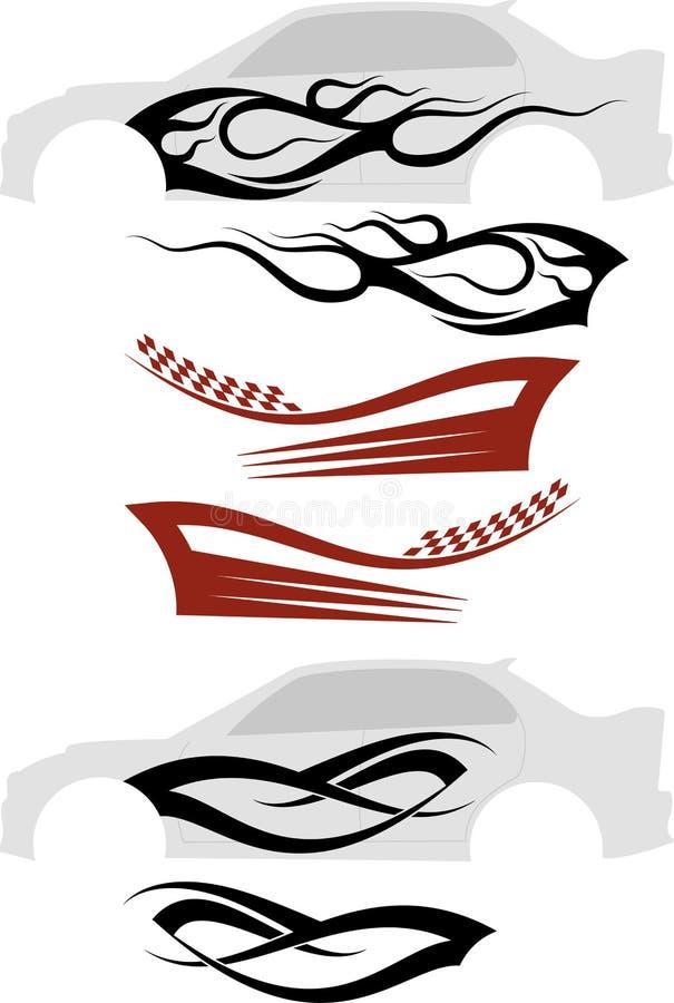 Graphiques de véhicule, rayure : Vinyle prêt illustration de vecteur