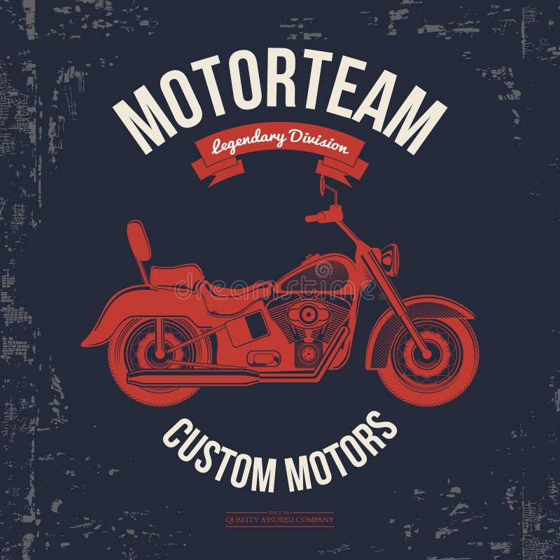 Graphiques de vintage de moto, voyage par la route, typographie de T-shirt, vintage Vecteur illustration libre de droits