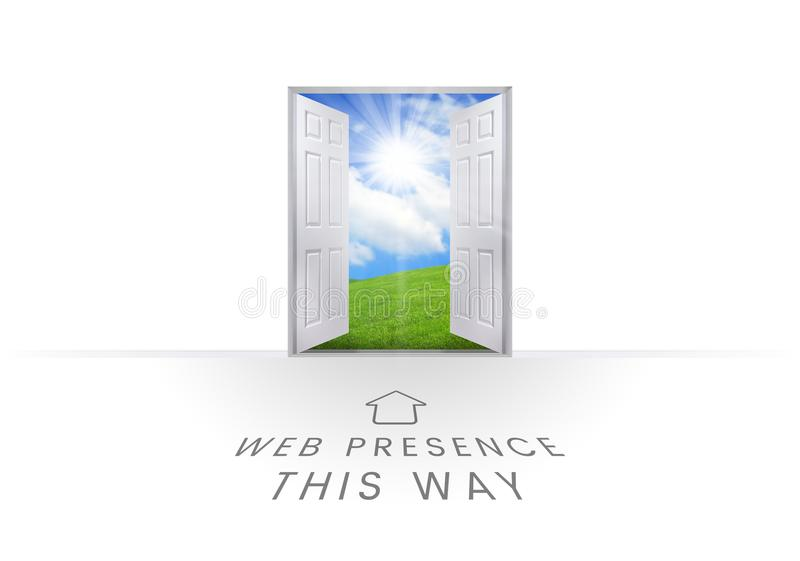 Graphiques des textes de présence de Web illustration de vecteur