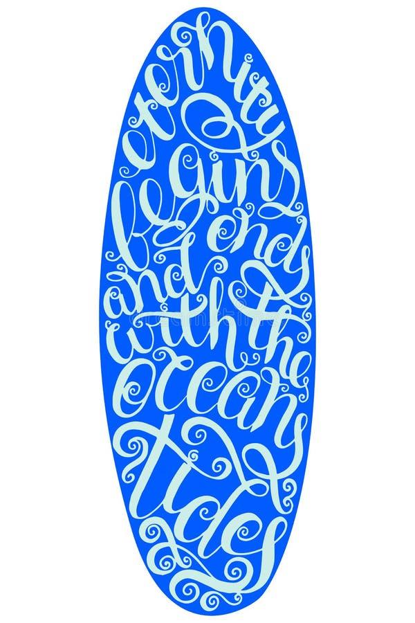 Graphiques et affiche surfants pour le web design ou la copie Insigne de typographie de ressac Joint de planche de surf, éléments illustration libre de droits