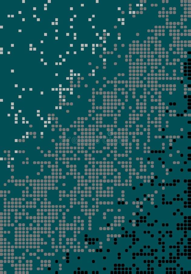 Graphiques géométriques affligés multicolores abstraits de modèle illustration stock