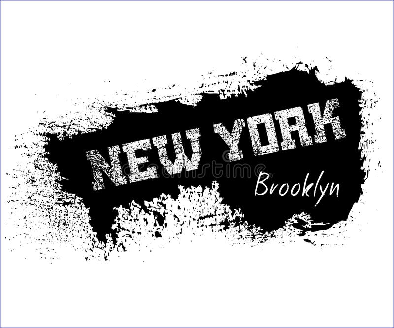 Graphiques New York Brooklyn de typographie de T-shirt illustration de vecteur