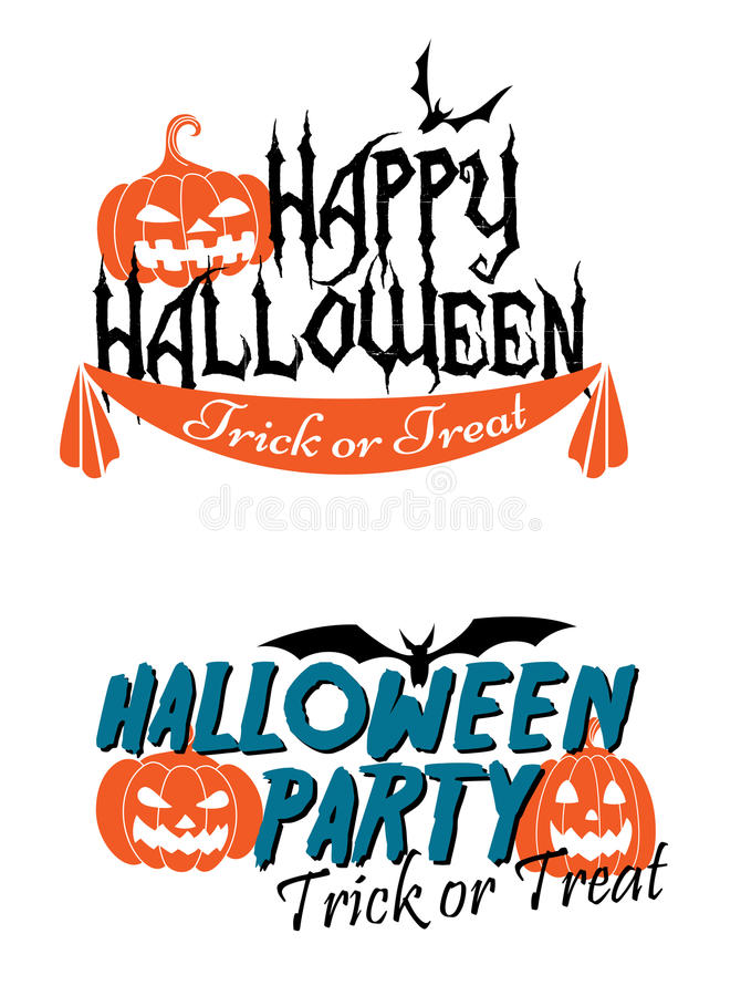 Graphiques orientés heureux de Halloween illustration libre de droits