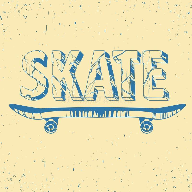 Graphiques, sport, vecteurs et seamle de T-shirt de typographie de panneau de patin illustration de vecteur