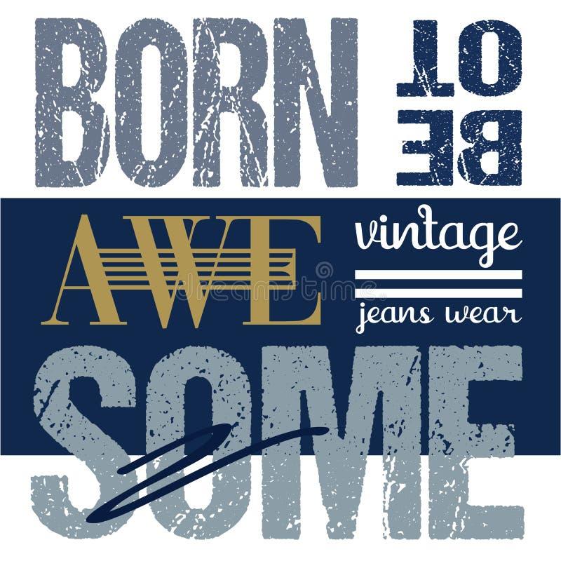 Graphiques sportifs de typographie d'illustration de T-shirt de conception d'habillement illustration de vecteur