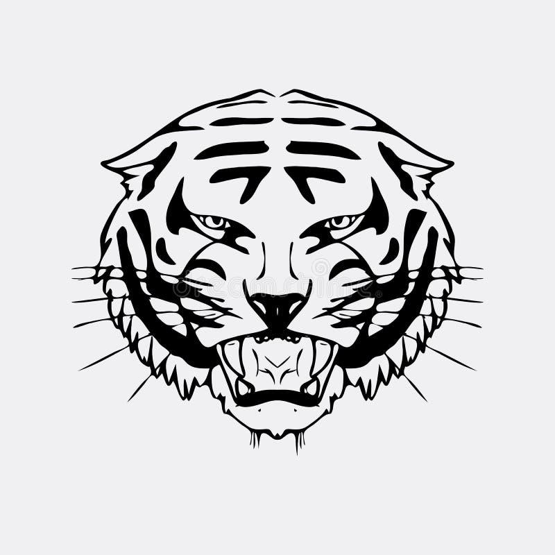 Préférence Graphiques Tirés Par La Main De Crayon, Tête De Tigre Gravure  XU87
