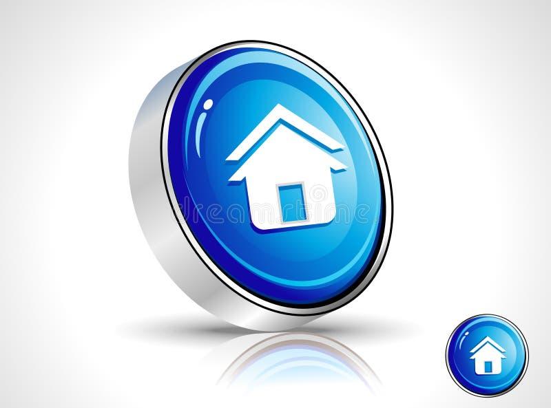 Graphisme à la maison bleu brillant abstrait illustration stock