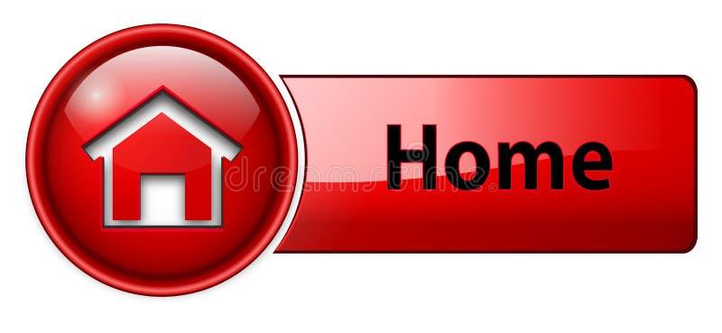 Graphisme à la maison, bouton illustration libre de droits
