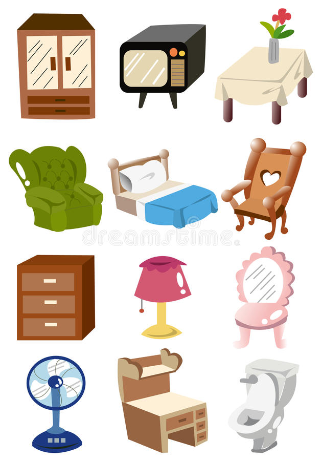graphisme la maison de meubles de dessin anim illustration de vecteur illustration du. Black Bedroom Furniture Sets. Home Design Ideas