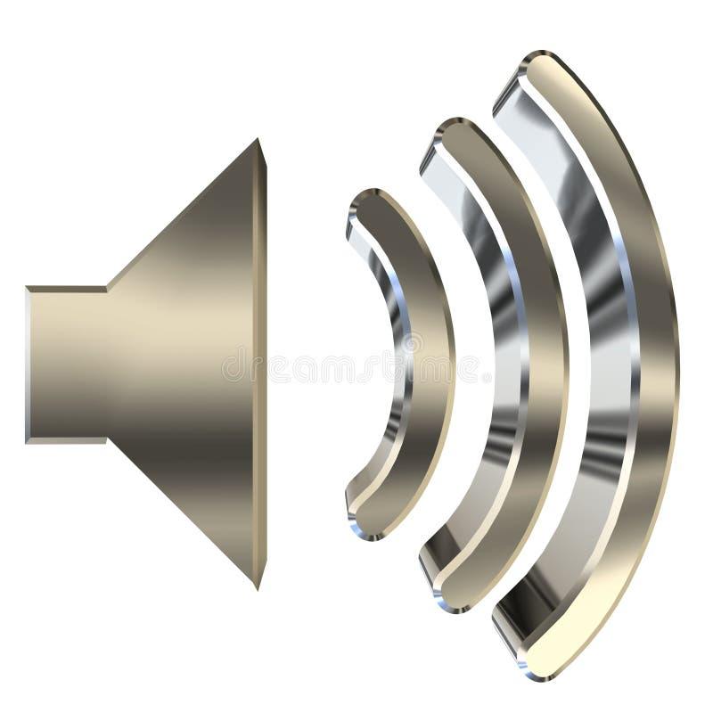 Graphisme 3D de haut-parleur illustration de vecteur