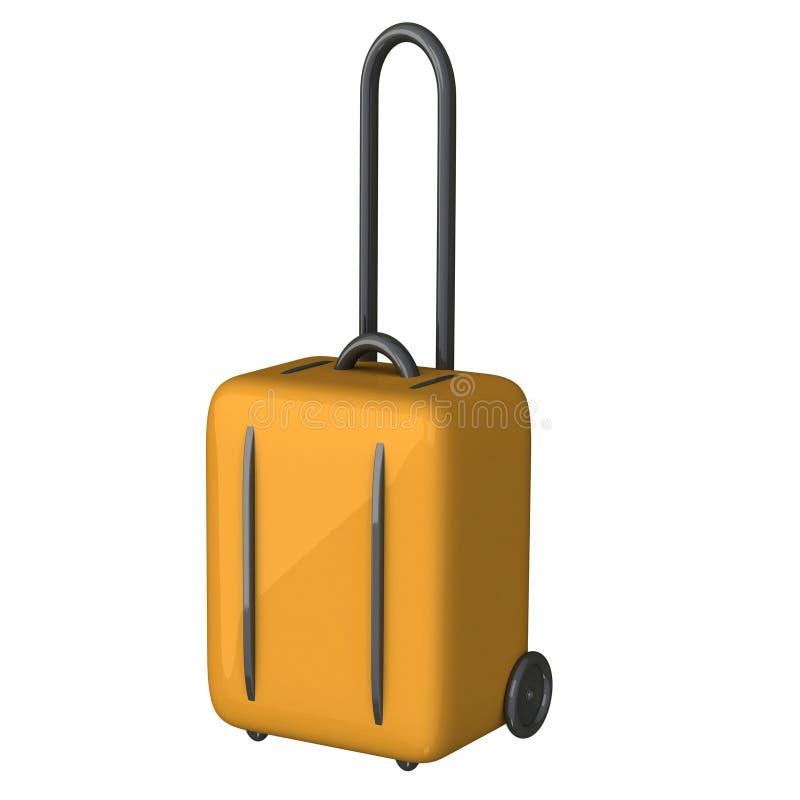 Graphisme 3d de valise de bagage illustration stock